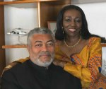 Jerry and Nana Konadu Rawlings