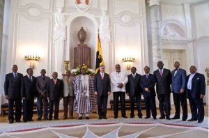 Official photograph of the Former African Heads of State, African Presidential Roundtable, Berlin, April 2009