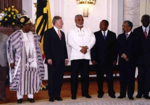 Former President Rawlings at the centre of attraction