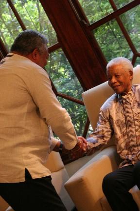 Jerry greets Madiba