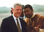 Former Presidents Clinton and Rawlings