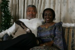 Former Presisdent Rawlings with his wife Nana Konadu Agyeman Rawlings