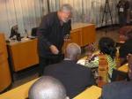 President Rawlings confers with Nana Konadu on a point