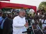 Former President Rawlings delivering his address