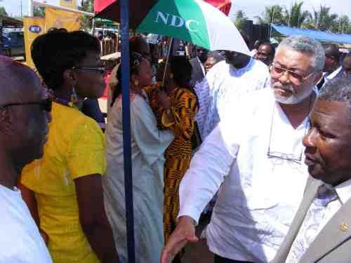Former President Rawlings meets Mawuena Dumor of MTN