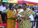 Nana Konadu makes a donation on behalf of the former first couple