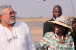 Jerry and Nana Konadu rawlings in Tamale