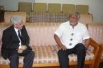 Former president Rawlings and Algerian Ambassador to Ghana Larbi Katti