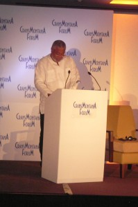 President Jerry John Rawlings Addressing the Crans Montana Forum