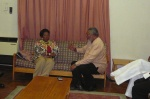 President Rawlings holding discussions with Congresswoman Jackson Lee