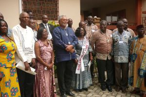 President in a pose with some of the CLOGSAG executives and dignitaries after the opening ceremony