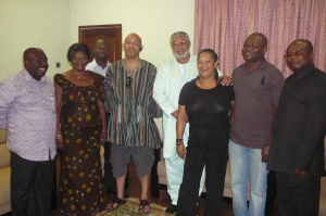 The delegation in a pose with President Rawlings
