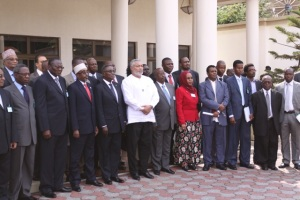 President Rawlings with conference delegates
