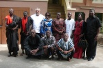 Madam Wenyonu's family in a pose with President and Mrs Rawlings