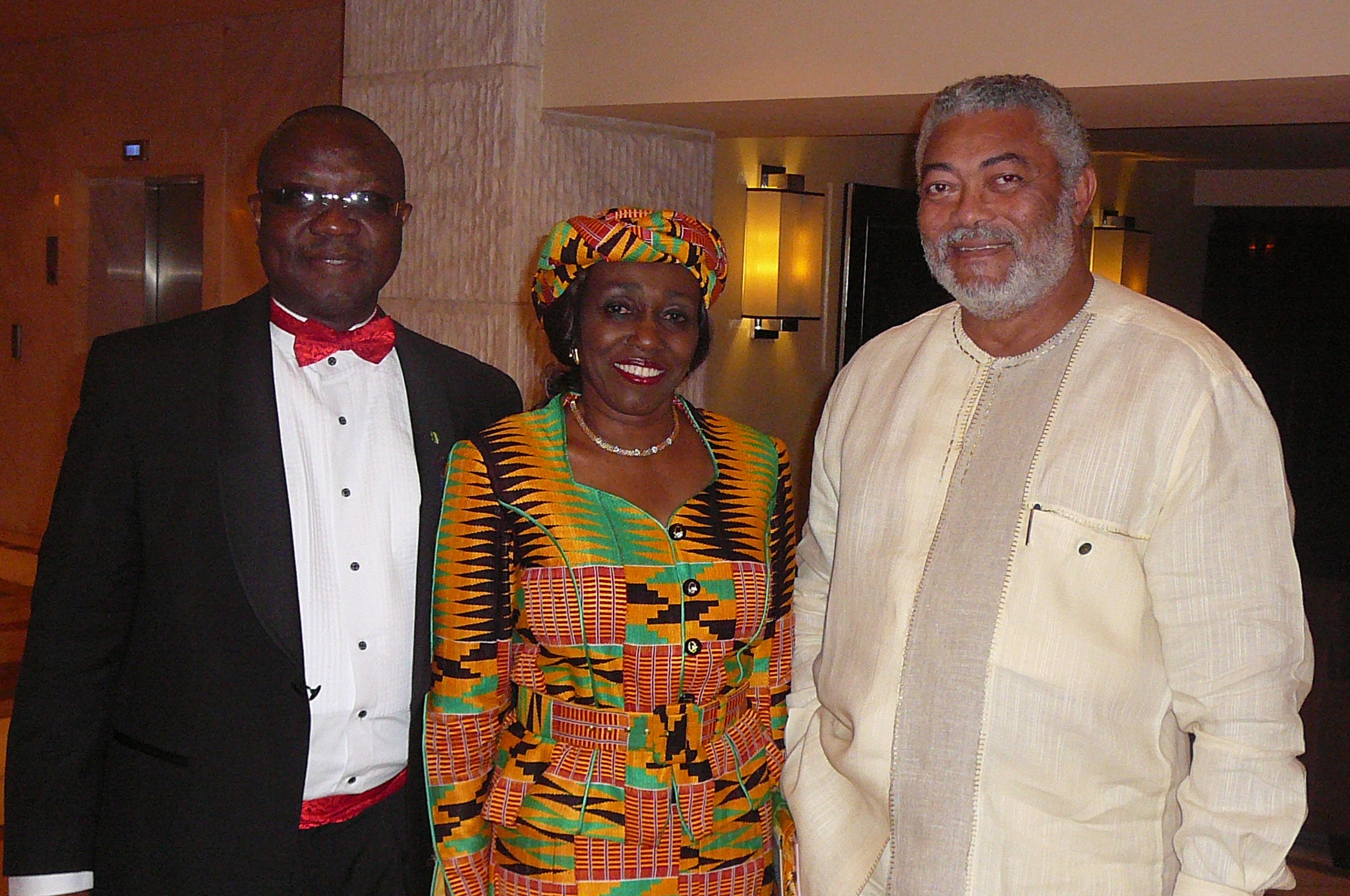 - president-and-mrs-rawlings-in-a-pose-with-bala-yesufu-of-rotary-district-9110