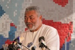 President Rawlings delivers his address at the closing ceremony