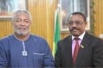 President Rawlings and Ethiopian Deputy Premier Hailemariam Desalegn