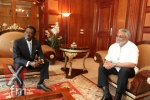 Former President Rawlings and the AU Chairman,Theodoro Obiang Nguema Mbasogo