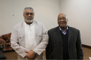 Former President Jerry Rawlings (Ghana) meeting President Jacob Zuma (South Africa) on the crisis across the Horn of Africa.