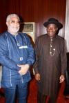 President Rawlings and President Jonathan after the meeting
