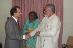 President Rawlings bids farewell to Ambassador Cruz
