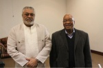 Presidents Zuma and Rawlings after the meeting