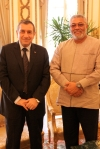Prime Minister Essam Sharaf and President Rawlings