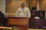 President Rawlings addressing the Pan-African Parliament