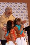 President Rawlings with Somali children