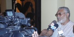 President Rawlings granting interviews to the media after the opening ceremony