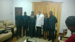 President Rawlings and the Morton Family