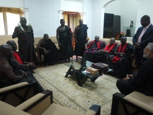 President Rawlings was informed of the funeral with the traditional presentation of Schnapps