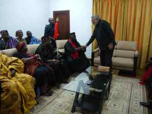 President Rawlings welcomes the Awadada of Anlo