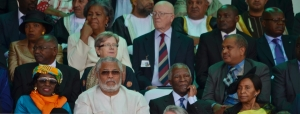 President and Mrs Rawlings. Next to President Rawlings is Thabo Mbeki former President of South Africa