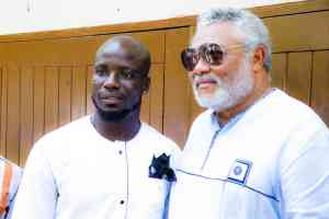 President Rawlings and Stephen Appiah