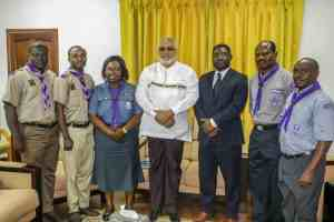 President Rawlings and the scout delegation
