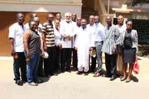 President Rawlings and his team pose for a photo with the Let My Vote Count Alliance