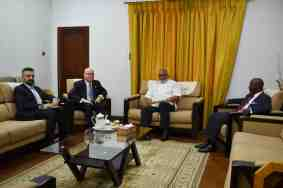 President Rawlings and Ambassador Jackson at the meeting